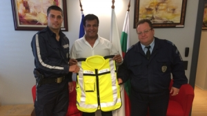 BCCBI  Lends vests for the use of Tsarevo Police Department