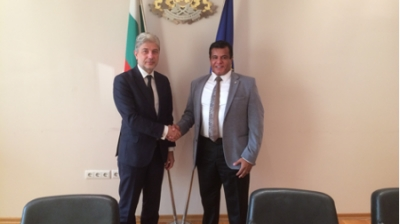 Meeting between the Minister of Environment and Water Dr Neno Dimov and the President of BCCBI Mr Avinoam Katrieli