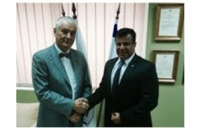 Mr. Hristo Grigorov, President of the Bulgarian Red Cross, met Mr. Avinoam Katrieli, President of BCCBI